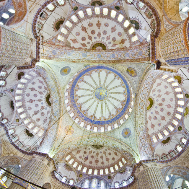 """Ceiling of Blue Mosque, Istanbul"" stock image"