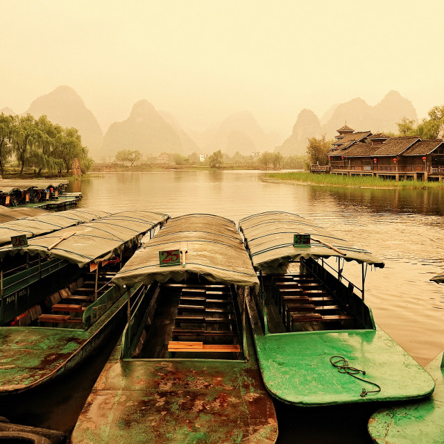 """Yangshuo, Guilin, China"" stock image"