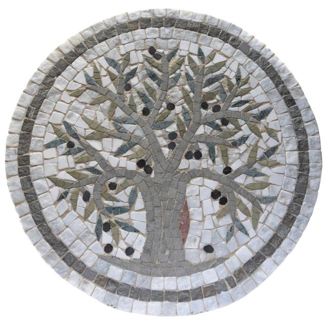 """""""Mosaic Olive Tree"""" stock image"""