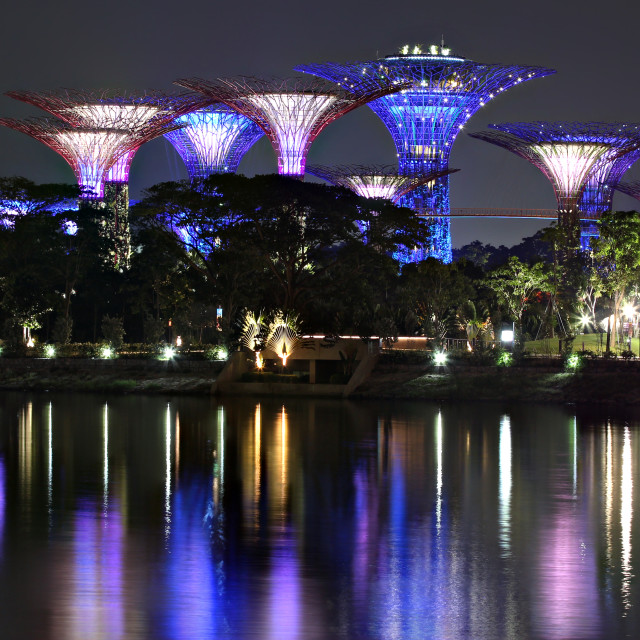 """Gardens by the Bay."" stock image"