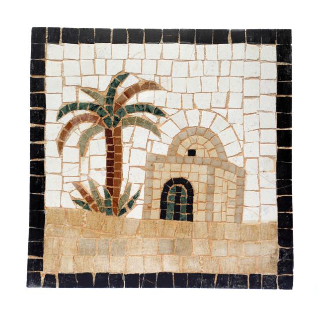 """""""Mosaic Hut and Palm"""" stock image"""