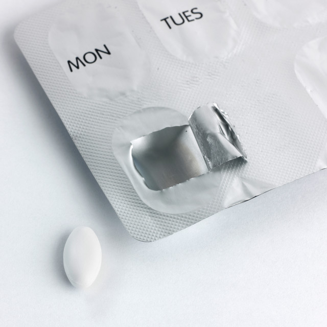 """""""Pills and packet"""" stock image"""