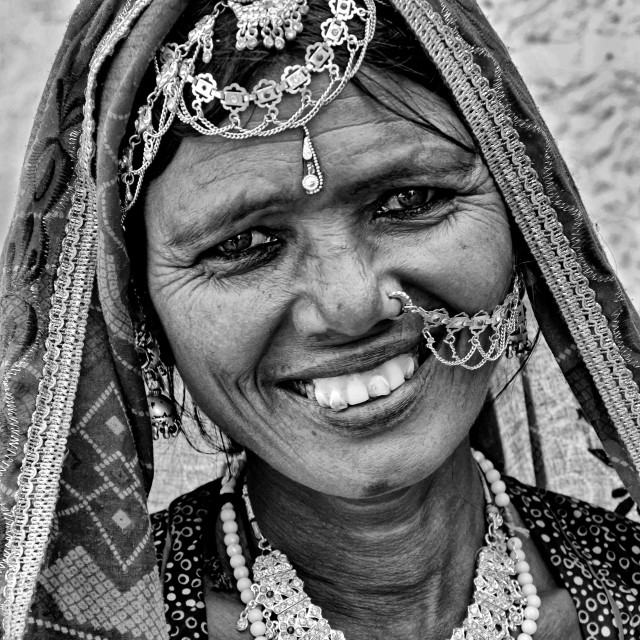 """JAISALMER WOMAN"" stock image"