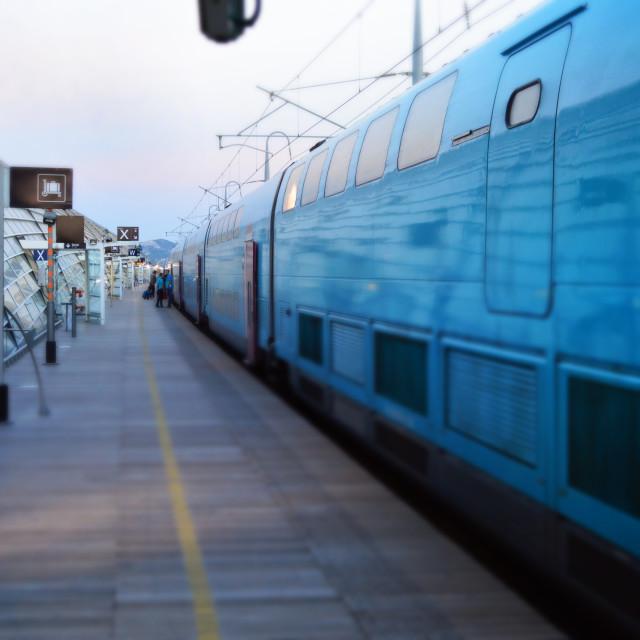 """""""Avignon Station"""" stock image"""