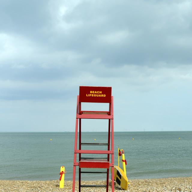 """lifeguard post"" stock image"