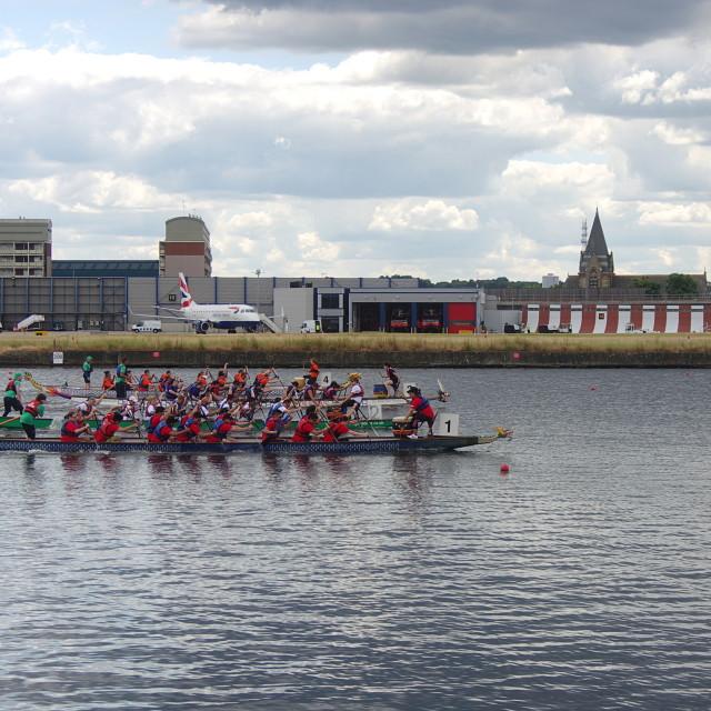 """London Dragon Boat Festival June 2014"" stock image"