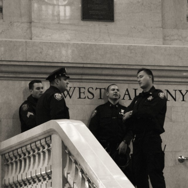"""Cops on West Balcony"" stock image"