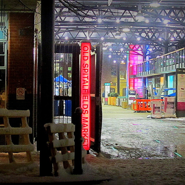 """Spitalfields Market"" stock image"