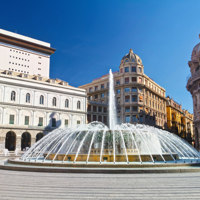 """Genova - De Ferrari square"" stock image"