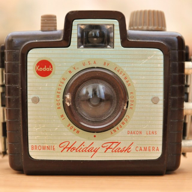 """The Kodak Brownie Holiday Camera 1953-1962"" stock image"