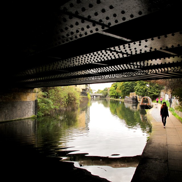 """Regents Canal"" stock image"