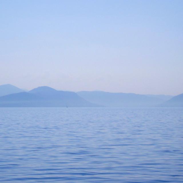 """""""Corfu In Blue"""" stock image"""