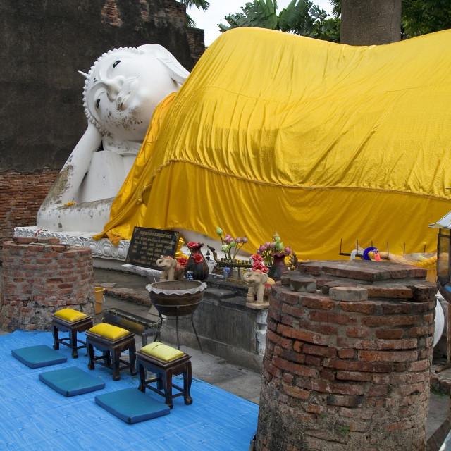 """""""Reclining Buddha in Ayutthaya"""" stock image"""