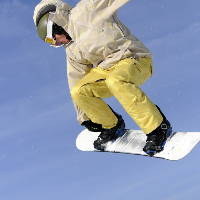 """""""Jumping Snowboarder"""" stock image"""