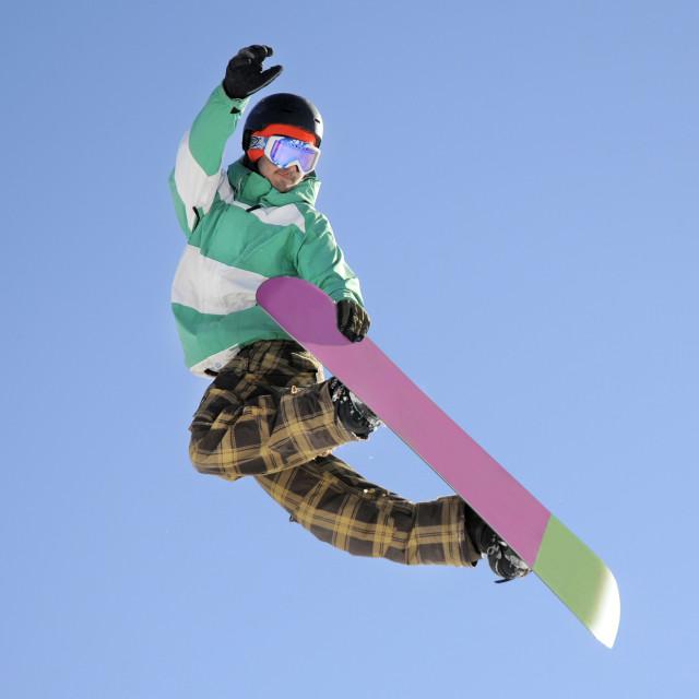 """Snowboarder"" stock image"