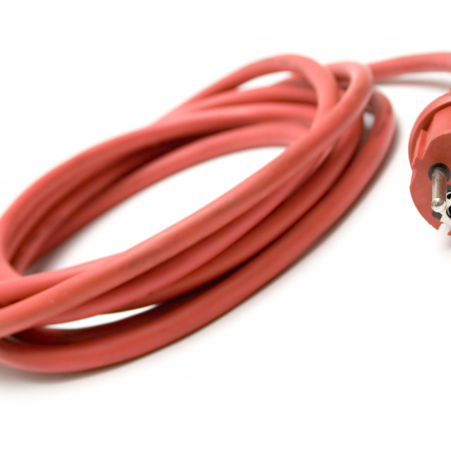 """""""Red Extension Cable"""" stock image"""