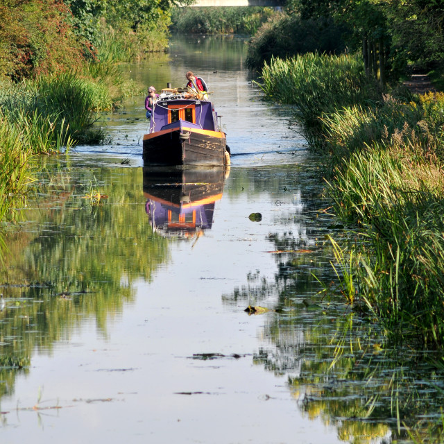 """Canal Barge"" stock image"