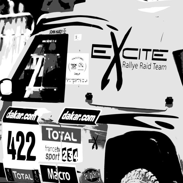 """Dakar Rally car"" stock image"