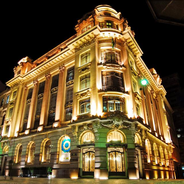 """Neoclassic building CCBB Sao Paulo"" stock image"