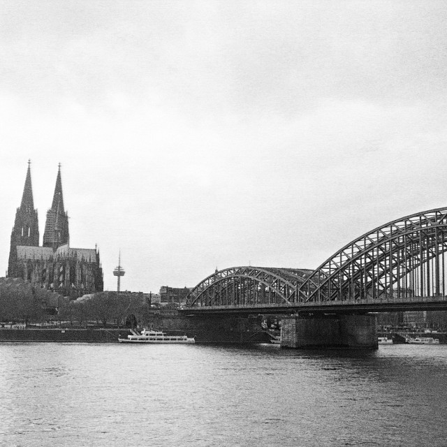 """Bridge & Cathedral"" stock image"