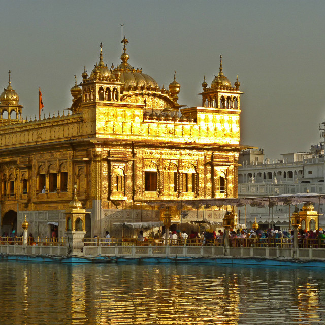 """Golden Temple at dusk"" stock image"