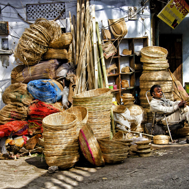 """THE BASKET MAKER"" stock image"