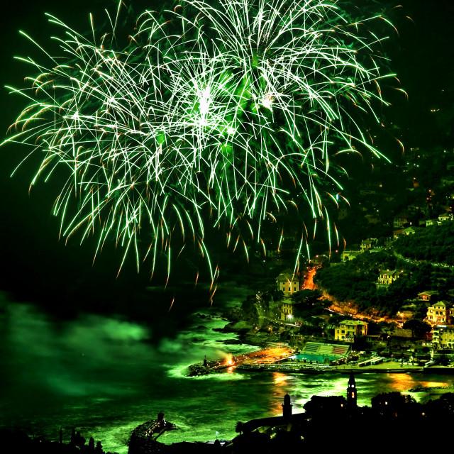 """Fireworks in Recco"" stock image"