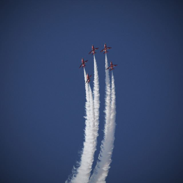 """Red Arrows 9"" stock image"