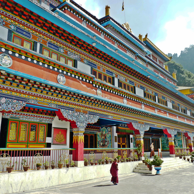 """Druk Sangag Choling Monastery"" stock image"