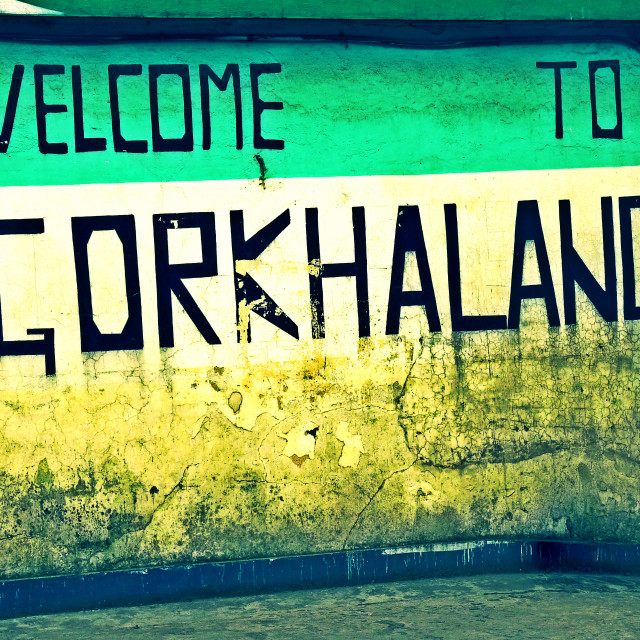 """Welcome To Gorkhaland"" stock image"