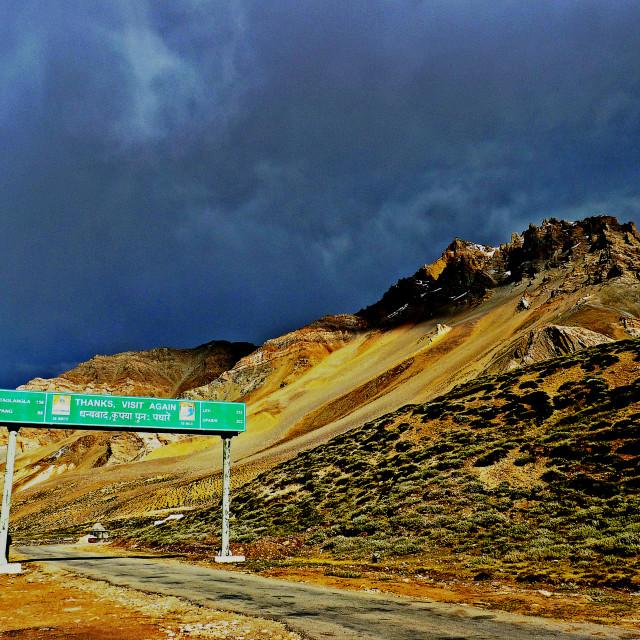 """""""Leh-Manali Highway"""" stock image"""
