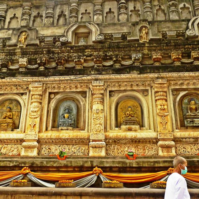 """""""Mahabodhi Pilgrim"""" stock image"""