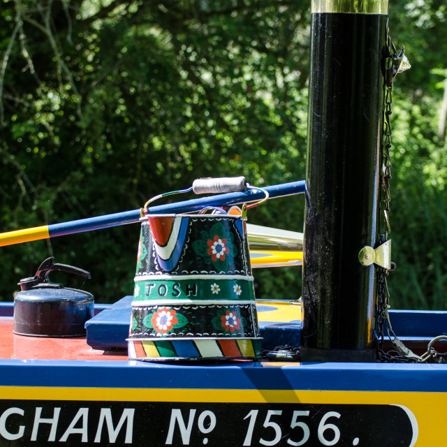 """""""Canal boat art - 1"""" stock image"""