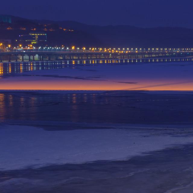 """Frozen river, korea"" stock image"