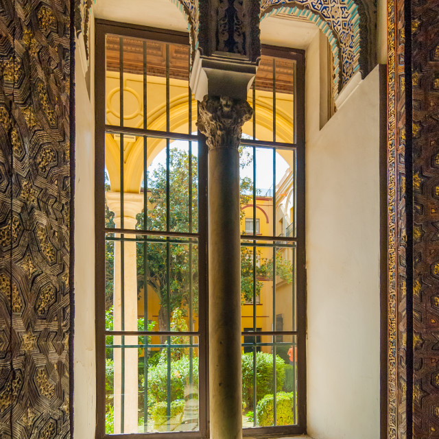 """Alcazar window"" stock image"