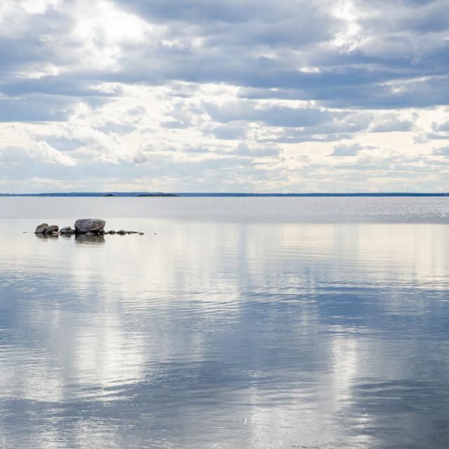 """""""Rocks in lake"""" stock image"""