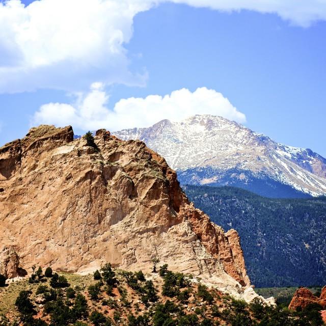 """Pikes Peak"" stock image"