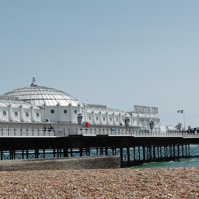 """""""Brighton Pier Pano"""" stock image"""