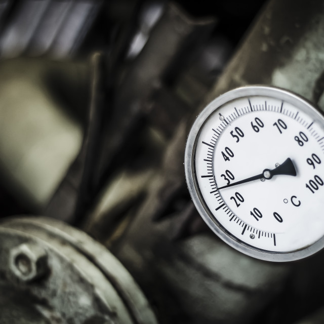 """Temperature gauge"" stock image"