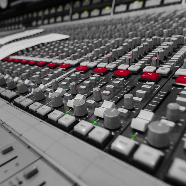 """Sound Mixing Desk"" stock image"