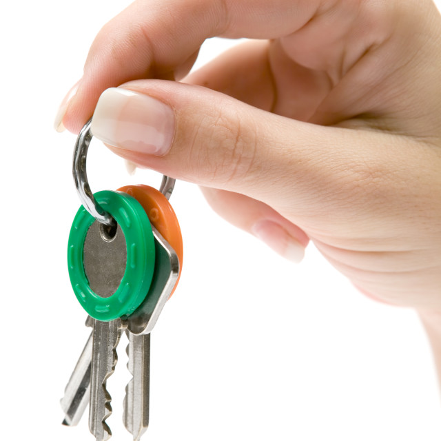 """""""Holding a Bunch of Keys"""" stock image"""