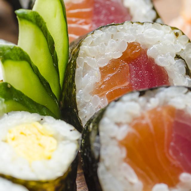 """Salmon Maki Sushi"" stock image"