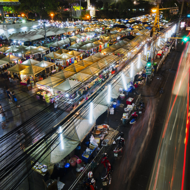 """Bangkok Night Market"" stock image"