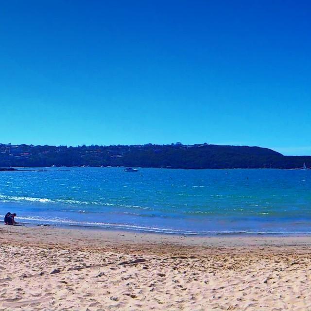 """Balmoral beach panoramic"" stock image"