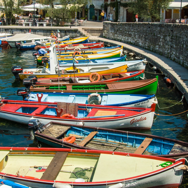 """Lake Garda boats -1"" stock image"