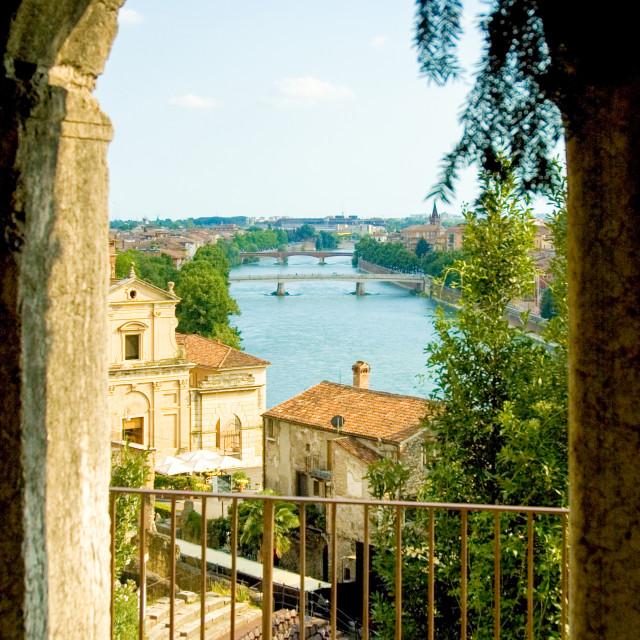 """Verona's river Adige"" stock image"