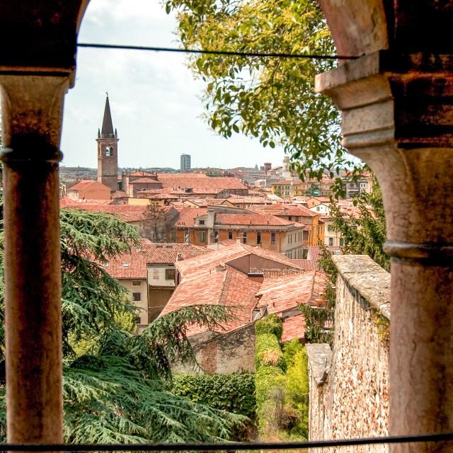 """Rooftops of Verona"" stock image"