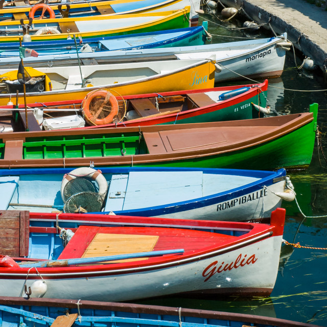 """Lake Garda Boats - 2"" stock image"