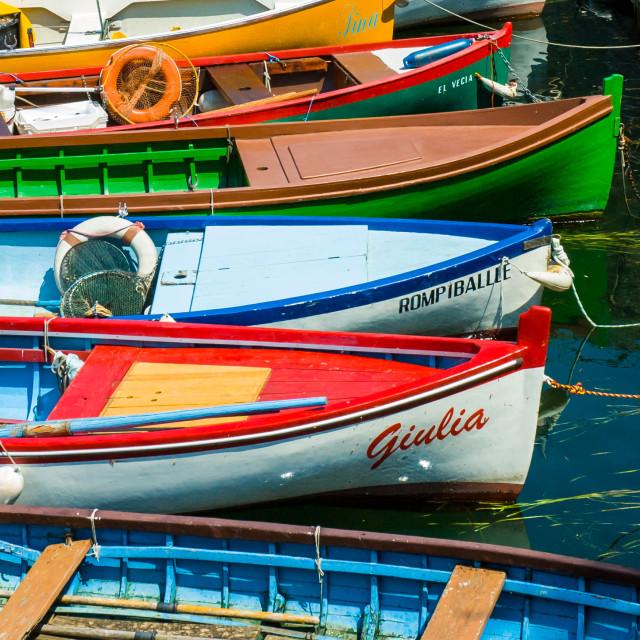 """Lake Garda Boats - 3"" stock image"