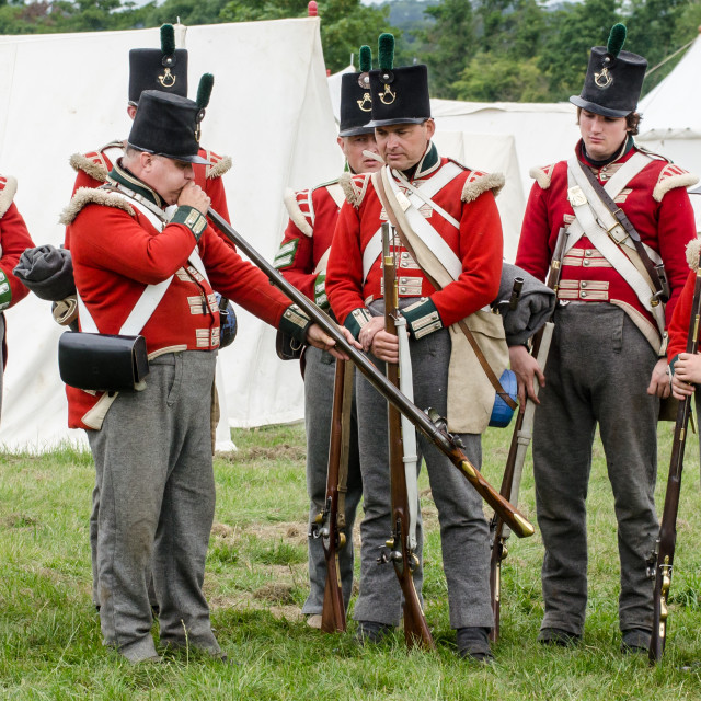 """British Redcoat soldiers - 1"" stock image"
